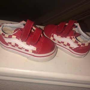 Red And White Checkered Vans (Toddler)